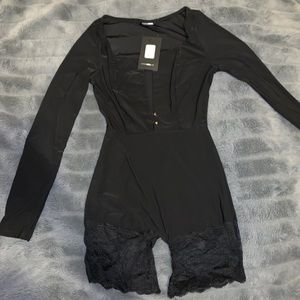 fashion nova lace romper